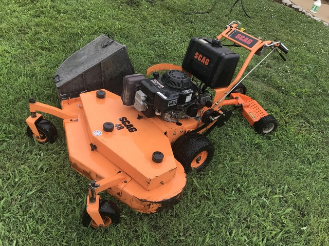 2002 SCAG 48 Inch Walk Behind Mower with Stand in Franklin